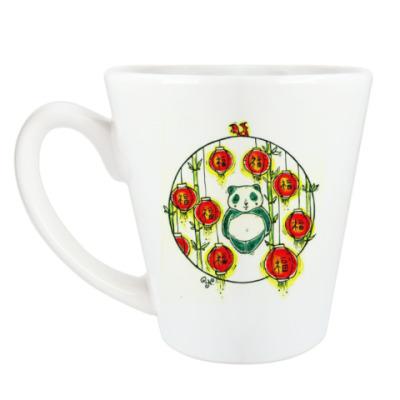 Чашка Латте Пожелание Счастья