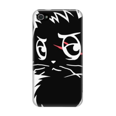 Чехол для iPhone 4/4s Черный кот new
