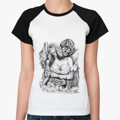 Женская футболка реглан Reaper Embrace