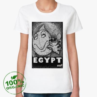 Женская футболка из органик-хлопка Селфи с рыбкой