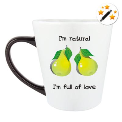 Кружка-хамелеон I'm natural, I'm full of love