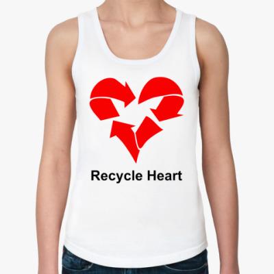 Женская майка Recycle Heart