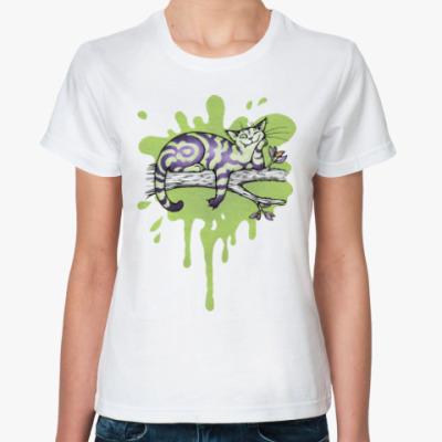 Классическая футболка Чеширский кот