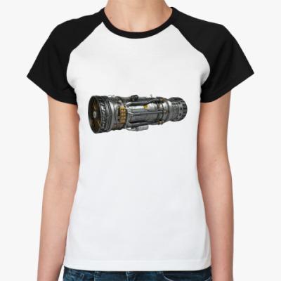 Женская футболка реглан Турбореактивный двигатель