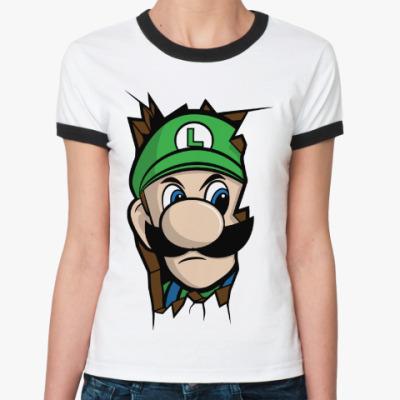 Женская футболка Ringer-T Луиджи Марио