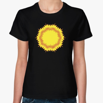 Женская футболка солнце