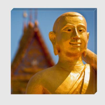 Холст Золотой монах / Golden monk