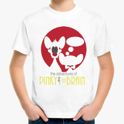 Детская футболка Приключения Пинки и Брэйна