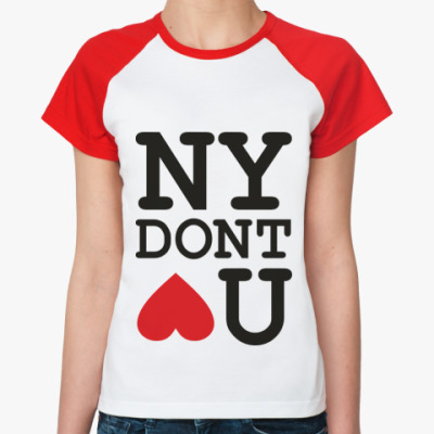 Женская футболка реглан NEW YORK