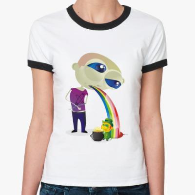 Женская футболка Ringer-T Леприкон