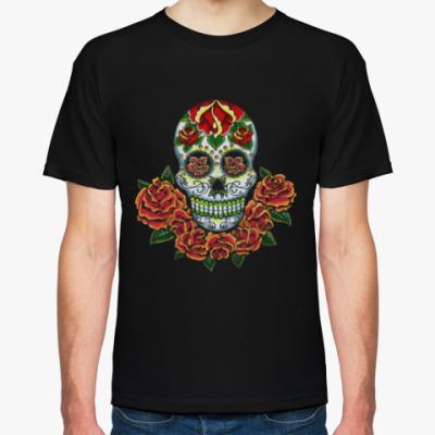 Футболка Skull and Flowers
