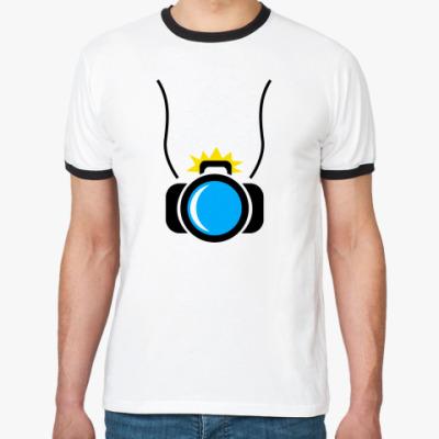 Футболка Ringer-T фотоаппарат