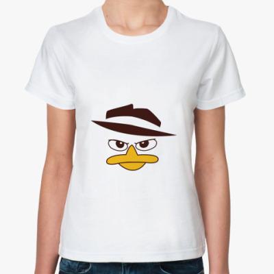 Классическая футболка Перри-Утконос