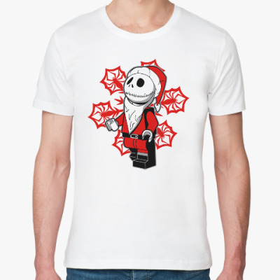Футболка из органик-хлопка Санта скелет
