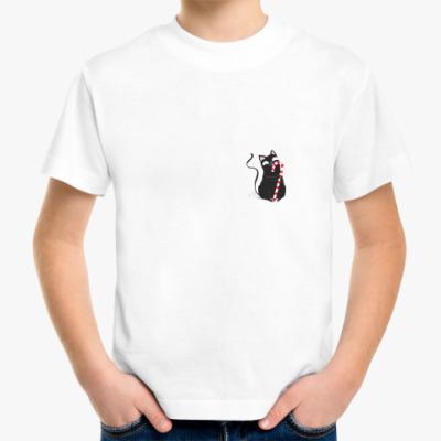 Детская футболка Кот и конфета