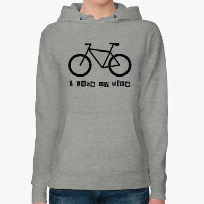 Женская толстовка худи I Love My Bike