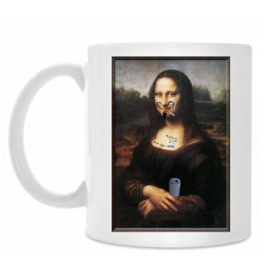 Кружка Испорченная Мона Лиза -