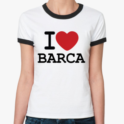 Женская футболка Ringer-T I Love Barca