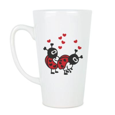Чашка Латте Влюбленные букашки