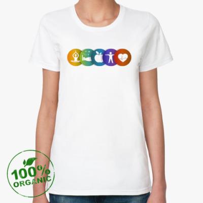 Женская футболка из органик-хлопка ЗОЖ