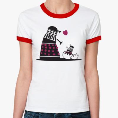 Женская футболка Ringer-T Doctor Who?Доктор Кто