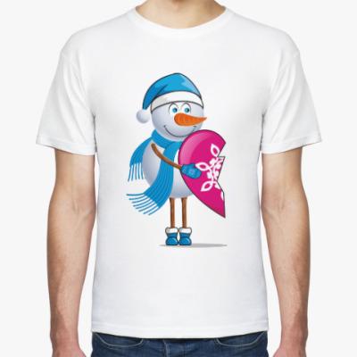 Футболка Парные. Снеговик. Любовь. Зима
