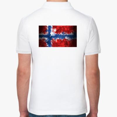 Рубашка поло  'Норвежский флаг'