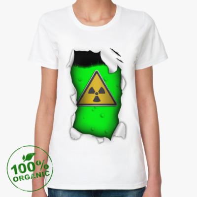 Женская футболка из органик-хлопка Радиация