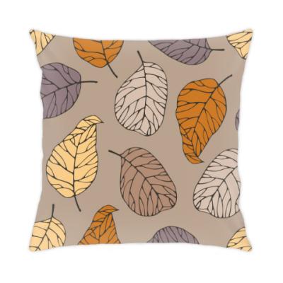 Подушка осенние листья