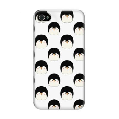 Чехол для iPhone 4/4s Пингвины