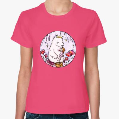 Женская футболка Полярный медведь и девочка