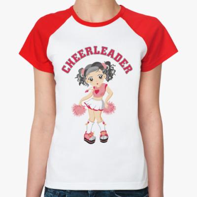 Женская футболка реглан  'Черлидер'