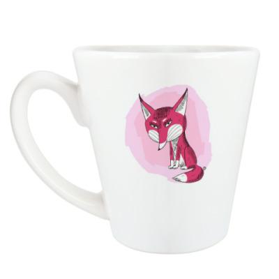 Чашка Латте Серьезная лисичка