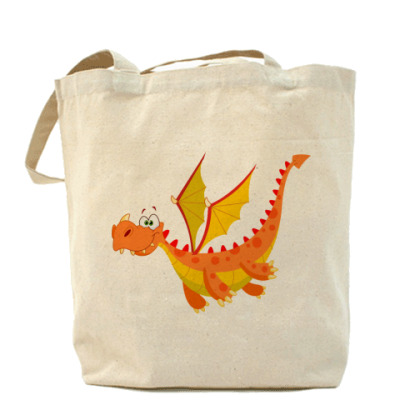 Сумка Холщовая сумка Дракон