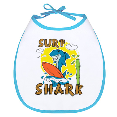 Слюнявчик Surf Shark