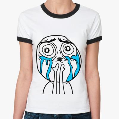 Женская футболка Ringer-T Неимоверное счастье
