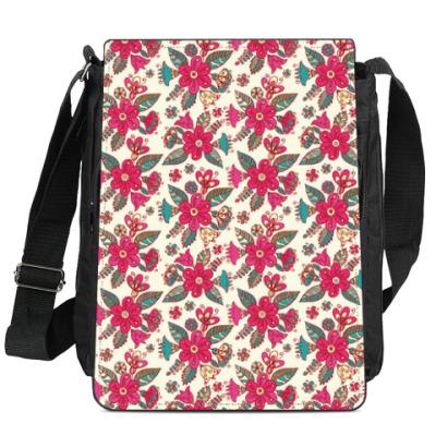 Сумка-планшет Цветы - паттерн