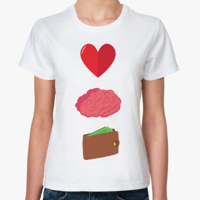 Классическая футболка Любовь, ум, деньги