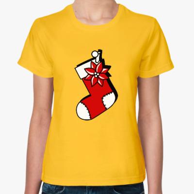 Женская футболка Чулок для подарков