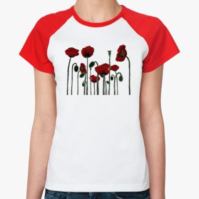 Женская футболка реглан Маки