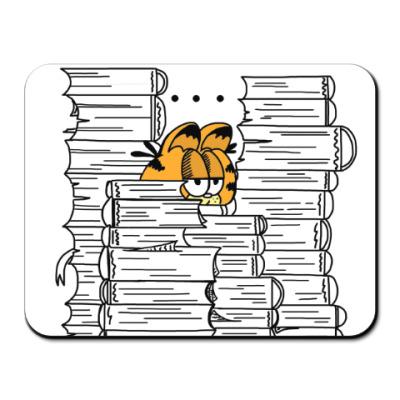 Коврик для мыши Гарфилд в книгах