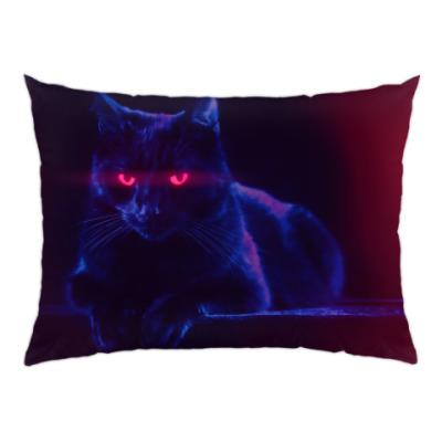 Подушка Шикарный черный кот
