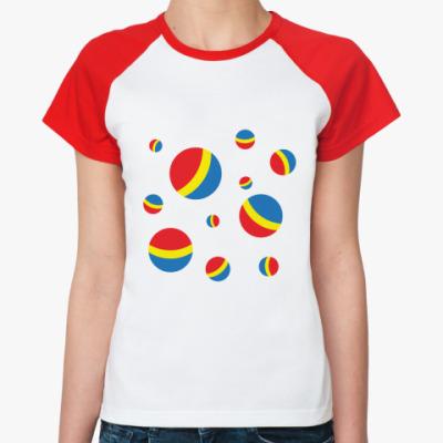 Женская футболка реглан Мячи
