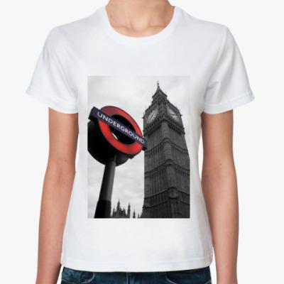 Классическая футболка london subway
