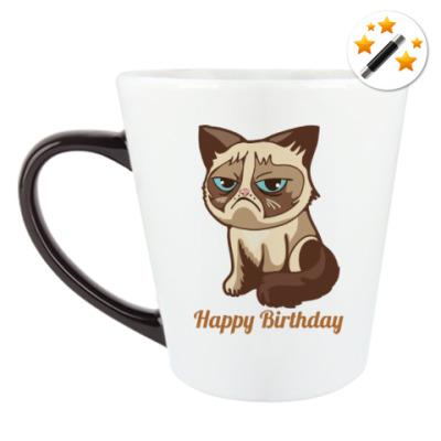 Кружка-хамелеон Угрюмый кот Тард - Grumpy Cat