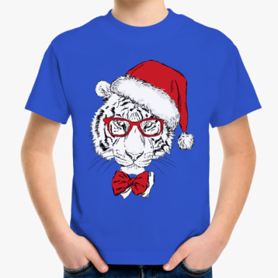 Детская футболка Тигр Санта