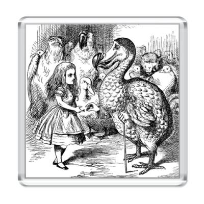 Магнит  'Птица Додо и Алиса'