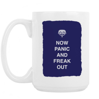 Кружка Now panic and freak out