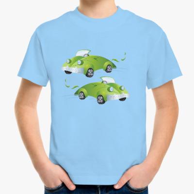 Детская футболка Эко-автомобили - Листья