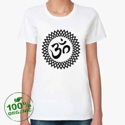 Женская футболка из органик-хлопка Ом